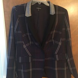 Plaid blazer by Lane Bryant